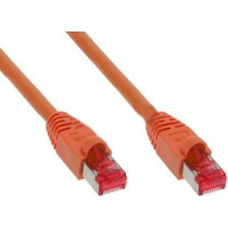 InLine Patch-Kabel - RJ-45 (M) bis RJ-45 (M) - 0,5m - orange