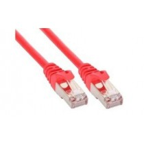 InLine Patchkabel, S-FTP, Cat.5e, rot, 1m