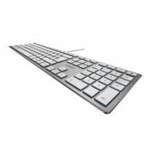 Cherry KC 6000 slim - Tastatur - silber